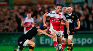 Sting in the tale: Ulster's John Cooney in action last night against Wasps