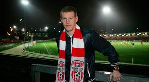 City slicker: James McClean on a visit home to Derry