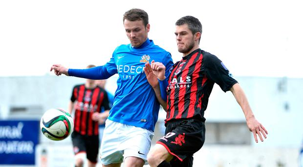 Business as usual: Andy Hall is happy for Glenavon to quietly piece together some momentum