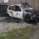One of the cars targeted in Cookstown
