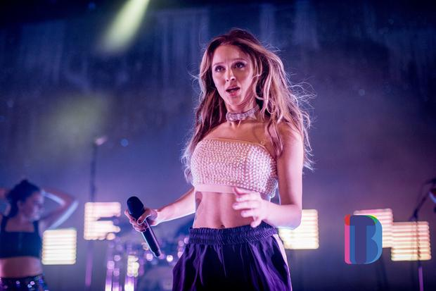 Swedish singer Zara Larsson performing to a sold out at the Waterfront Hall, Belfast. Sunday 15th October 2017 Liam McBurney/RAZORPIX