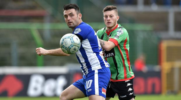 Coleraine's Eoin Bradley is facing a spell on the sidelines.