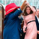 The Duchess of Cambridge and Paddington Bear dance