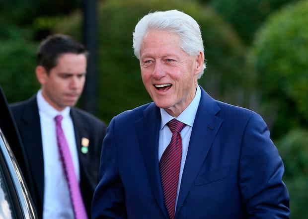 Former US president Bill Clinton arriving at the Culloden Hotel in Belfast for private engagements where it is understood he will meet with DUP leader Arlene Foster.