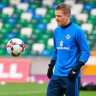 Up for it: Northern Ireland captain Steven Davis