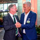 I'll see you at Windsor: Northern Ireland manager Michael O'Neill and Switzerland boss Vladimir Petkovic
