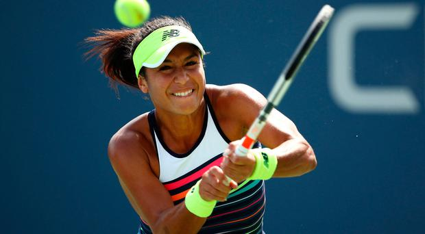 Easy work: Heather Watson in action yesterday