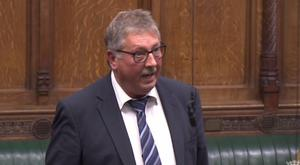 The DUP's Sammy Wilson speaking in Parliament during a debate on universal credit / Credit: Parliament.tv