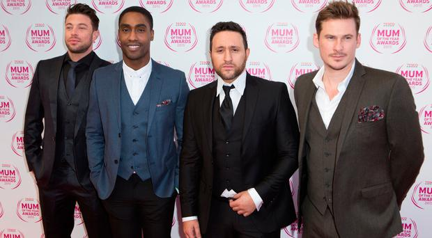 All rise: Blue (l-r) Duncan James, Simon Webbe, Antony Costa and Lee Ryan in their heyday