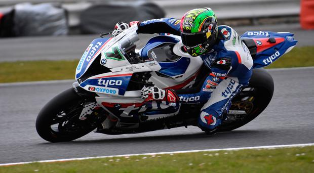 Past success: Michael Laverty in action for Tyco BMW at Silverstone in 2016