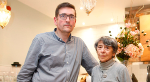 Michael Cafolla and his mother Olive (89) who was left badly shaken