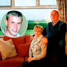 Breege and Stephen Quinn, parents of IRA murder victim Paul (inset)