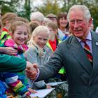 The Prince of Wales meets well-wishers outside the Eglinton Community Centre in Londonderry. Pic: Laura Hutton/PA Wire