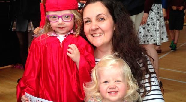 Mum Jenna Turner with daughters Anna (5) and Ella (3)