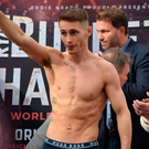 Storm Ryan: Burnett at yesterday's weigh-in