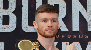 Up for it: James Tennyson at yesterday's weigh-in