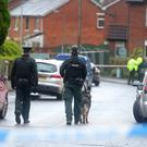 Police at the scene on Ardmore Avenue in the Finaghy area of Belfast where a woman in her 50s body was found on Saturday morning. Picture by Jonathan Porter/PressEye