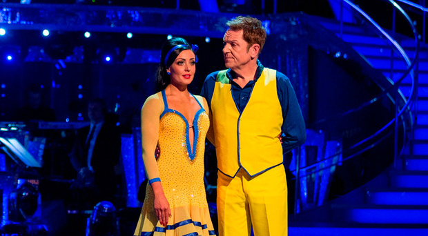 Brian Conley with partner Amy Dowden