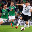 Germany Julian Draxler (right) in action against Northern Ireland at Windsor Park earlier this month.
