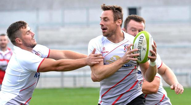 Raring to go: Tommy Bowe says Ulster are relishing this weekend's clash with Leinster