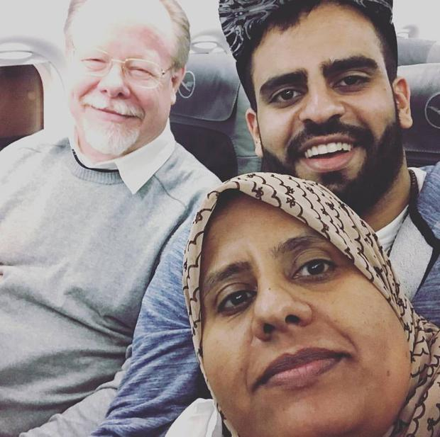 Ibrahim Halawa on his way home to Ireland/ Credit: Free Ibrahim Halawa FB page