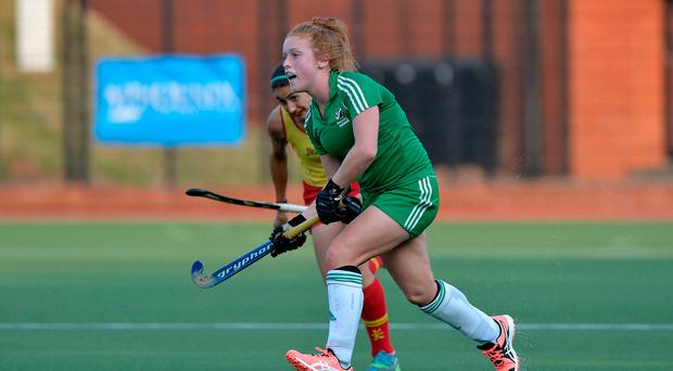Pitching in: Ulster's Zoe Wilson found the net for Ireland in their victory over Scotland at Havelock Park
