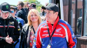 Fighting on: John McGuinness is still recovering from May crash