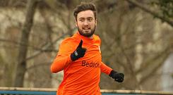 Glenavon's Mark Patton netted against Armagh on Tuesday evening.