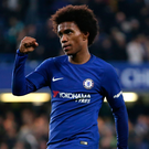 Game winner: Willian was the scorer of Chelsea's second goal