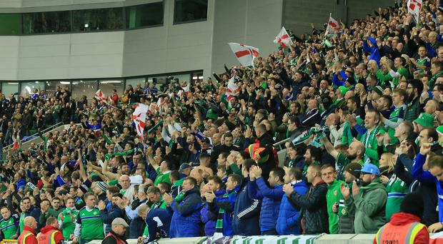 Northern Ireland supporters.