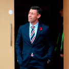 Beginning of end: Pedro Caixinha at Hampden Park before Sunday's surprise Betfred Cup semi-final defeat to Motherwell