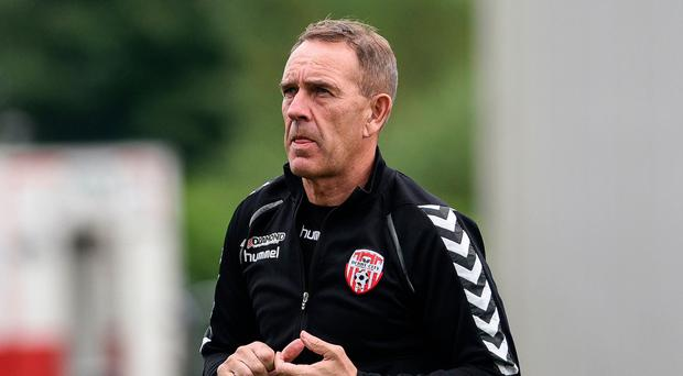 Clear aim: Kenny Shiels wants to end the season on a high