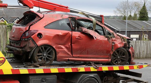 An 18-year-old man has died following a one-vehicle road crash near Dromara, County Down.