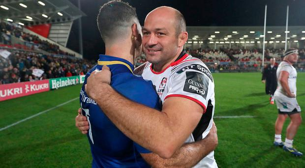 Rory Best with Rob Kearney