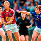 Point made: Robert Maloney-Derham (right) was on form for Cavan Gaels against Lamh Deargh