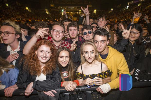 Fans out to see Liam Gallagher live at SSE Arena. Date: Monday 30th October 2017 Picture by Liam McBurney ©