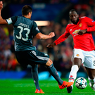 Making strides: Romelu Lukaku goes on the run