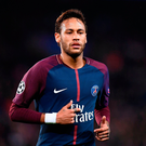 On target: Neymar hit PSG's second goal against Anderlecht