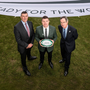 At the launch of Ireland's bid are Philip Browne, Brian O'Driscoll and Dick Spring