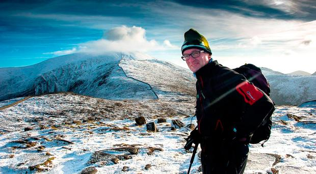 High life: Dawson Stelfox in the Mourne Mountains