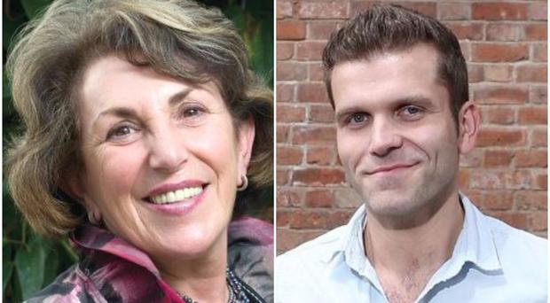 Former Tory minister Edwina Currie and BBC presenter Vinny Hurrell