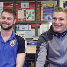 Coleraine's Chris Johns and Glenavon's Andrew Mitchell were Primary School team-mates at Waringstown PS. Now they're going head to head in a Premiership top-two clash.