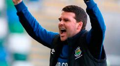 Feeling blue: Linfield boss David Healy endured a torrid month in October