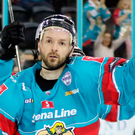 Many happy returns: Glaswegian Colin Shields returned home to Scotland last night and scored a double for the Belfast Giants in their victory over the Dundee Stars
