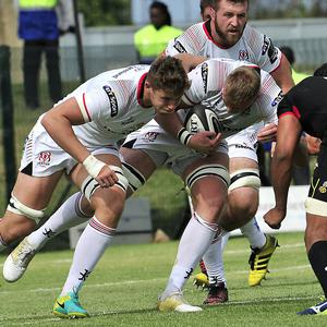 Ulster's Kieran Treadwell and Matty Rea in action in Port Elizabeth. Pic: Mandatory Credit ©INPHO/Deryck Foster