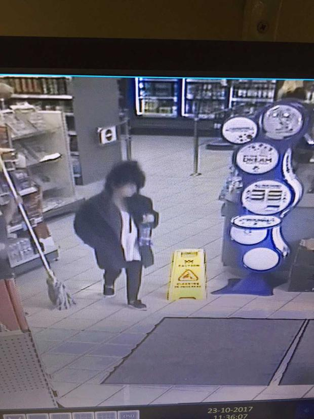 The CCTV image is thought to be the last image of Karen before her disappearance.
