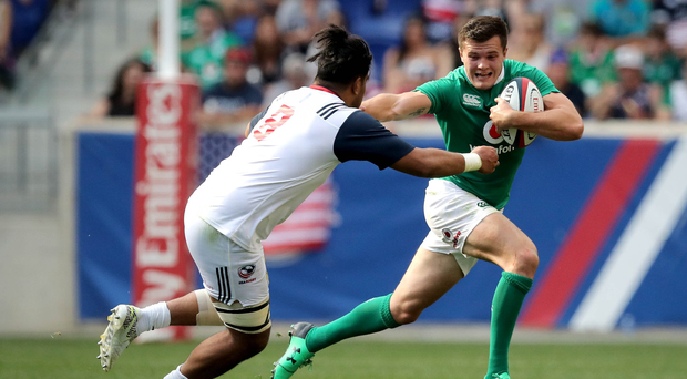 Burgeoning talent: Jacob Stockdale's form for Ulster has caught the eye of Keith Earls