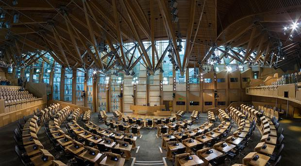 The debating chamber in Scottish parliament / Credit: Creative Commons