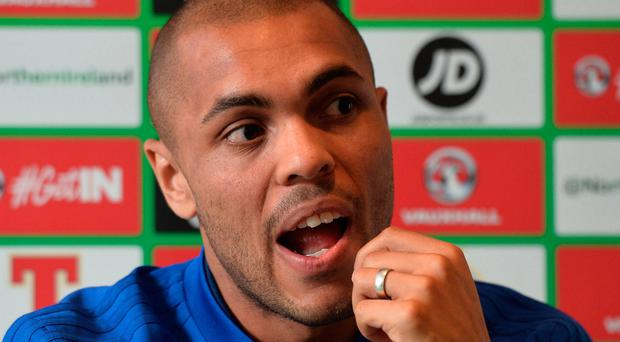 Focused: Josh Magennis is relishing NI's play-off battles