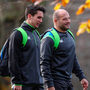 Young and old: Joey Carbery and Rory Best at Carton House